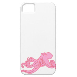 Pink octopus vintage kawaii nautical drawing iPhone 5 covers