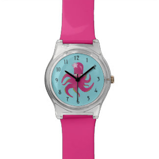 Pink octopus watch