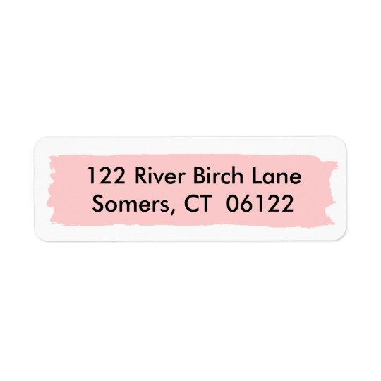 Pink Ombre Cake, Matching Address Return Address Label