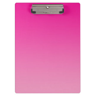 """""""Pink Ombre"""" Clipboard"""