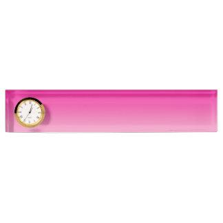 Pink Ombre Desk Nameplates