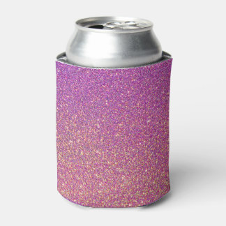 Pink Ombre Glitter Background Can Cooler