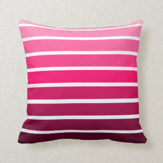 Pink Ombre Gradient Colorful Stripe Cushion