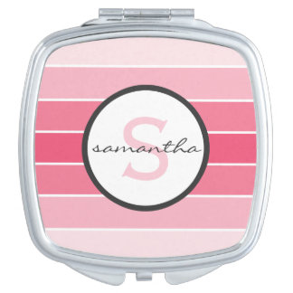 Pink Ombre Monogram Compact Mirror