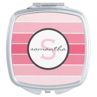 Pink Ombre Monogram Vanity Mirrors