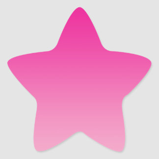 Pink Ombre Star Sticker