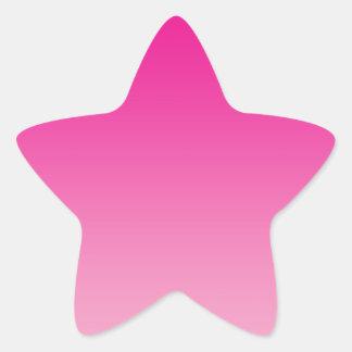 Pink Ombre Star Sticker
