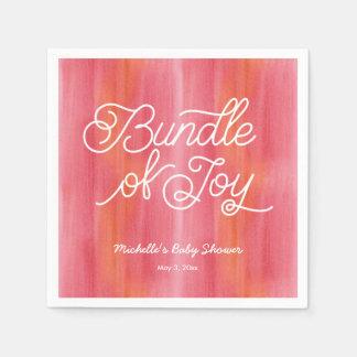 Pink Ombre Watercolor Baby Shower Napkins Paper Serviettes