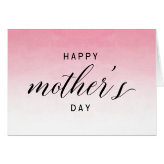 Pink Ombre Watercolor | Happy Mother's Day Card