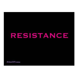 Pink on Black Background Resistance Postcard