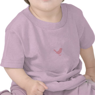 pink on cream bird shirt