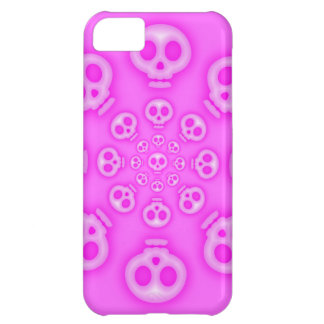 Pink on Pink Cotton Candy Skulls iphone 5 case