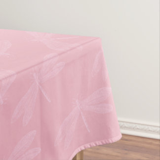 Pink on Pink Elegant Spring Dragonfly Pattern Tablecloth