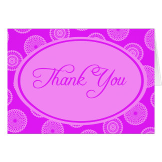 Pink on Pink Thank You Card