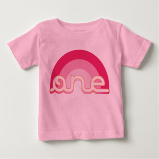 Pink One First Birthday Top