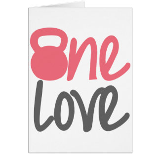 "Pink ""One Love"" Greeting Card"