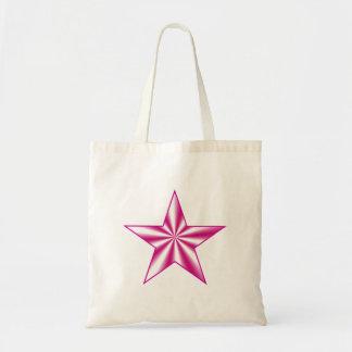 Pink Optical Illusion Star Bag