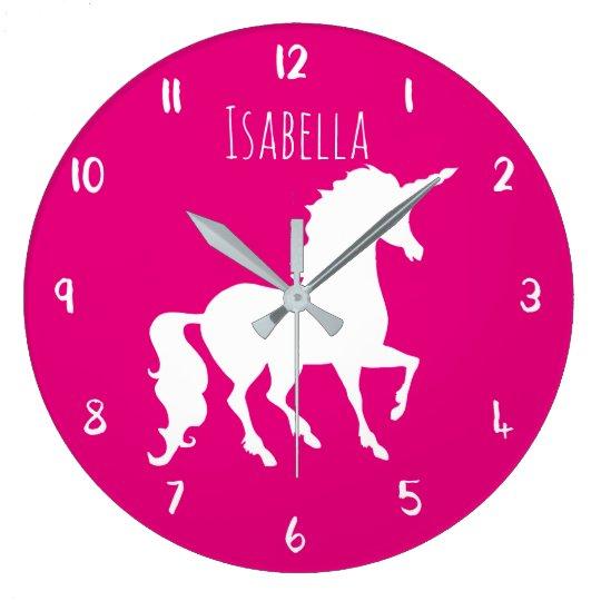 Pink or Custom Colour Unicorn Personalised Kids Large
