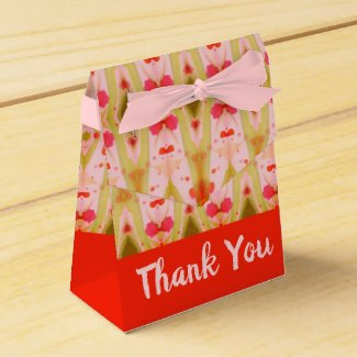 Pink Orange And Green Favour Box