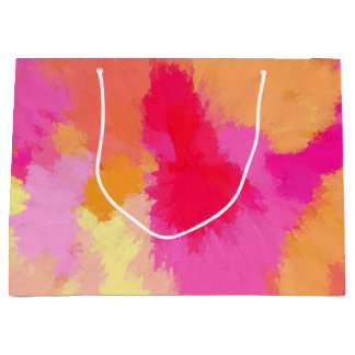 Pink, Orange and Yellow Watercolor Large Gift Bag