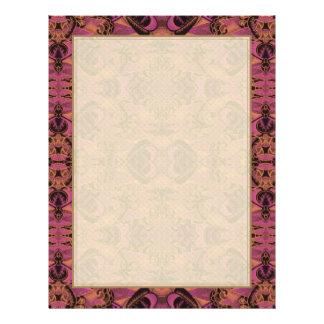 Pink, Orange, Black, Silky Art Deco Pattern 21.5 Cm X 28 Cm Flyer