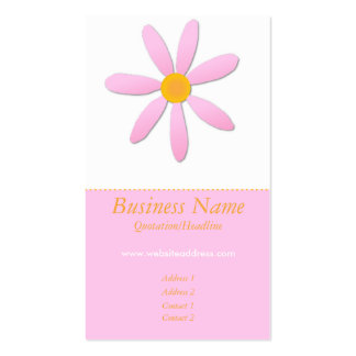 Pink & Orange Daisy Flower Business Cards
