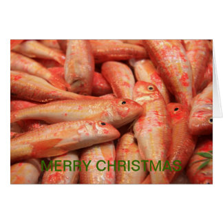 Pink/Orange Fish Merry Christmas Card