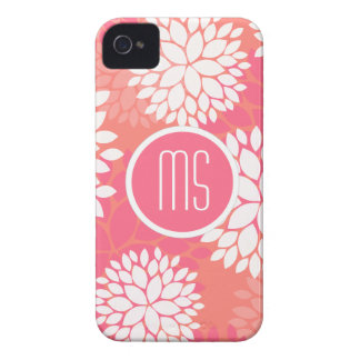 Pink Orange Flower Pattern iPhone 4 Covers