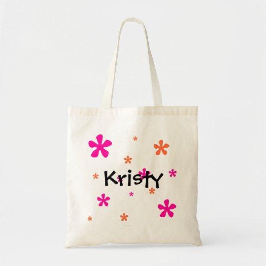 Pink & Orange Flowers(Customisable) Tote Bag