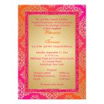 Pink, Orange, Gold FAUX Glitter Wedding Invite