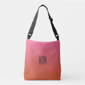 Pink Orange Gradient custom monogram bags