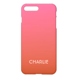 Pink - Orange Gradient custom monogram phone cases