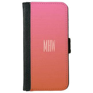 Pink Orange Gradient custom monogram phone wallets