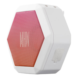 Pink - Orange Gradient custom monogram speaker