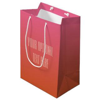 Pink Orange Gradient custom text gift bags