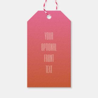 Pink Orange Gradient custom text gift tags