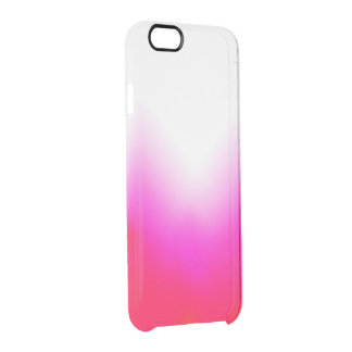 Pink orange ice clear clear iPhone 6/6S case