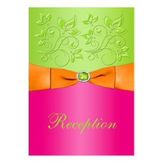 Pink, Orange, Lime Floral Wedding Enclosure Card Business Card Templates