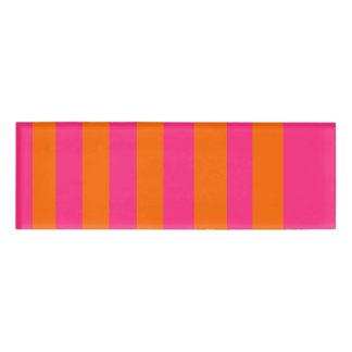 Pink & Orange Name Tag