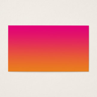 Pink & Orange Ombre Business Card
