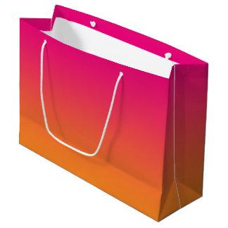 Pink & Orange Ombre Large Gift Bag