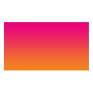 Pink & Orange Ombre Pack Of Standard Business Cards
