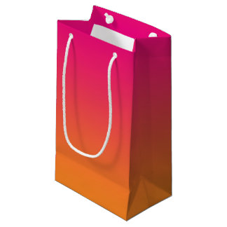Pink & Orange Ombre Small Gift Bag