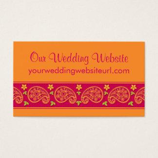 Pink Orange Paisley Floral Wedding Website Insert
