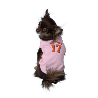 Pink & Orange Pets   Sports Jersey Design Sleeveless Dog Shirt
