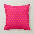 Pink Orange Polka Dot Pattern Cushion