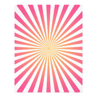 Pink & Orange Radial Lines: Custom Template Personalized Flyer