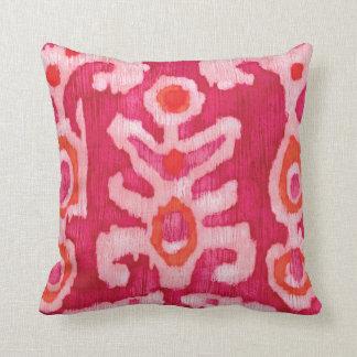 Pink & Orange Tribal Ikat Cushion