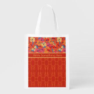 Pink, Orange, Yellow Poppies Reusable Shopping Bag