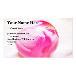 Pink Orb Pack Of Standard Business Cards